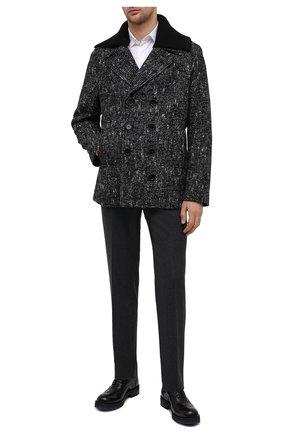 Мужские кожаные оксфорды ATTIMONELLI'S черного цвета, арт. AA457 | Фото 2