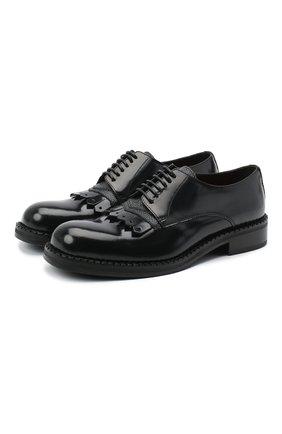 Мужские кожаные дерби ATTIMONELLI'S черного цвета, арт. AA460V | Фото 1