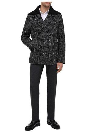 Мужские кожаные дерби ATTIMONELLI'S черного цвета, арт. AA460V | Фото 2