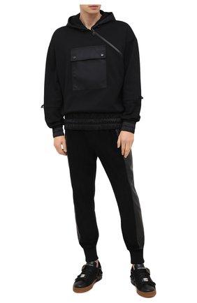 Мужские комбинированные кеды portofino DOLCE & GABBANA черного цвета, арт. CS1835/AW836 | Фото 2