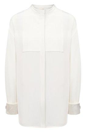 Женская шелковая рубашка PETER DO белого цвета, арт. PD-FW20-434/SE017 | Фото 1