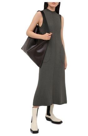 Женское платье PETER DO темно-серого цвета, арт. PD-FW20-740/YN007 | Фото 2