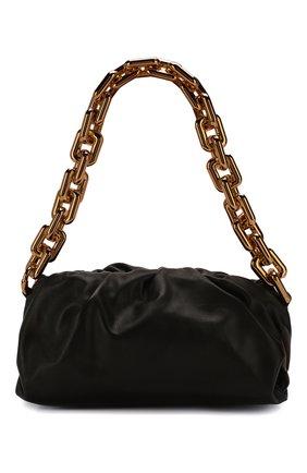 Женская сумка chain pouch BOTTEGA VENETA черного цвета, арт. 620230/VCP40   Фото 1 (Материал: Натуральная кожа; Сумки-технические: Сумки top-handle; Размер: medium)