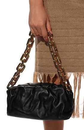 Женская сумка chain pouch BOTTEGA VENETA черного цвета, арт. 620230/VCP40 | Фото 3
