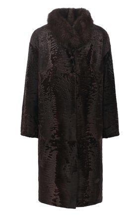 Женская шуба из меха каракуля KUSSENKOVV коричневого цвета, арт. 727103503366 | Фото 1