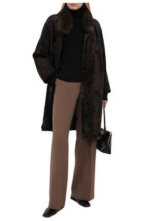 Женская шуба из меха каракуля KUSSENKOVV коричневого цвета, арт. 727103503366 | Фото 2