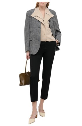 Женский жакет из шерсти и хлопка GIORGIO ARMANI серого цвета, арт. 0WHGG0HN/T01VD | Фото 2