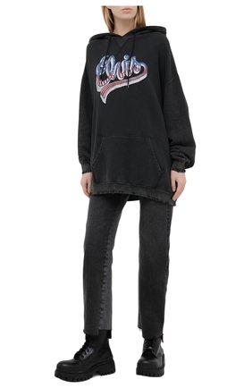 Женская хлопковое худи R13 черного цвета, арт. R13W7711-44 | Фото 2