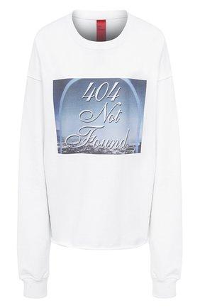 Женская хлопковый свитшот 404 NOT FOUND белого цвета, арт. 400201 | Фото 1