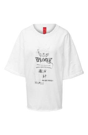 Женская хлопковая футболка 404 NOT FOUND белого цвета, арт. 420201 | Фото 1