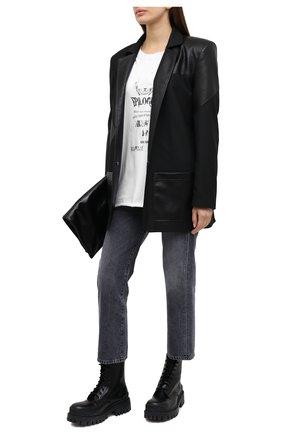 Женская хлопковая футболка 404 NOT FOUND белого цвета, арт. 420201 | Фото 2