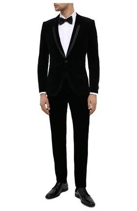 Мужской хлопковый пиджак HUGO черного цвета, арт. 50439999 | Фото 2