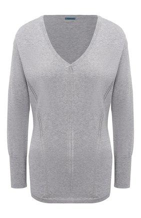 Женский пуловер MAISON LEJABY серого цвета, арт. 171397   Фото 1