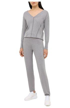 Женские брюки MAISON LEJABY серого цвета, арт. 171399 | Фото 2