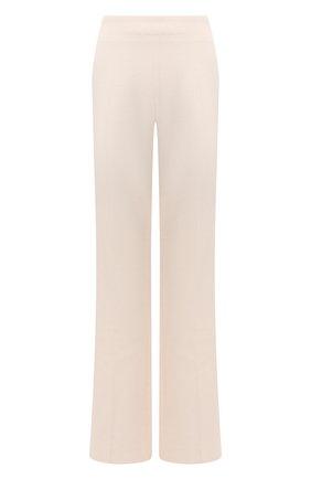 Женские шерстяные брюки PETAR PETROV кремвого цвета, арт. HUME F20H82 | Фото 1 (Длина (брюки, джинсы): Удлиненные; Материал подклада: Купро; Материал внешний: Шерсть; Силуэт Ж (брюки и джинсы): Широкие; Кросс-КТ: Трикотаж; Стили: Кэжуэл; Женское Кросс-КТ: Брюки-одежда)