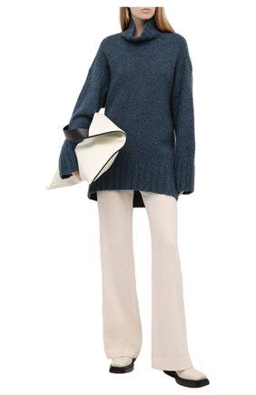 Женские шерстяные брюки PETAR PETROV кремвого цвета, арт. HUME F20H82   Фото 2