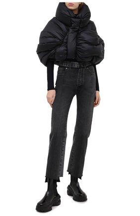 Женский пуховик RICK OWENS черного цвета, арт. MW20F0001/C0594 | Фото 2