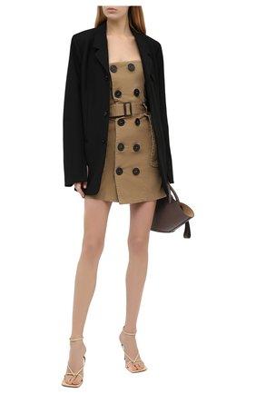 Женское джинсовое платье DSQUARED2 бежевого цвета, арт. S72CV0137/S52994 | Фото 2
