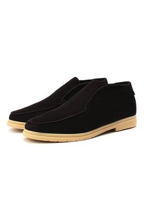 Мужские замшевые ботинки ANDREA VENTURA FIRENZE темно-коричневого цвета, арт. W-SAIL0R-EP0ME0/SHEARLING/CACHEMIRE/WS-IV0RY | Фото 1