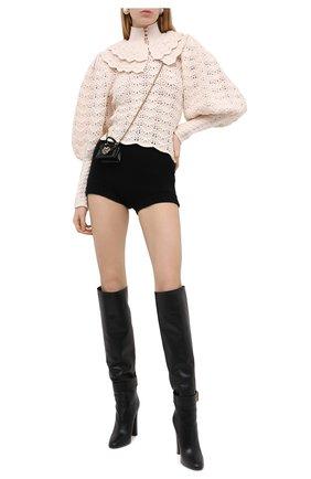 Женские кашемировые шорты DOLCE & GABBANA черного цвета, арт. FXA91T/JAW7J | Фото 2