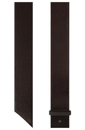Женский кожаный ремень BRUNELLO CUCINELLI темно-коричневого цвета, арт. M0PGLC522 | Фото 2 (Материал: Кожа)