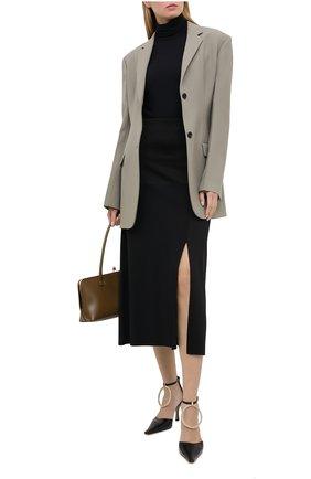 Женская юбка из шелка и вискозы JIL SANDER черного цвета, арт. JSWR754343-WRY39058 | Фото 2