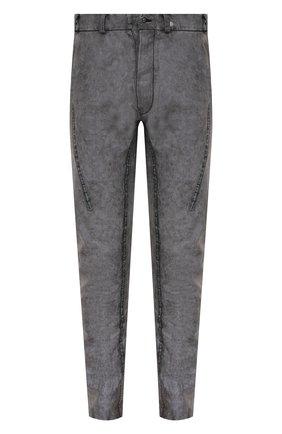 Мужской льняные брюки ISAAC SELLAM темно-серого цвета, арт. EPICURIEN-TALMUD/LIN | Фото 1