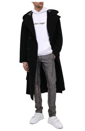 Мужской льняные брюки ISAAC SELLAM темно-серого цвета, арт. EPICURIEN-TALMUD/LIN | Фото 2