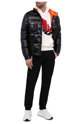 Мужской хлопковые джоггеры MONCLER черного цвета, арт. F2-091-8H710-00-V8148 | Фото 2