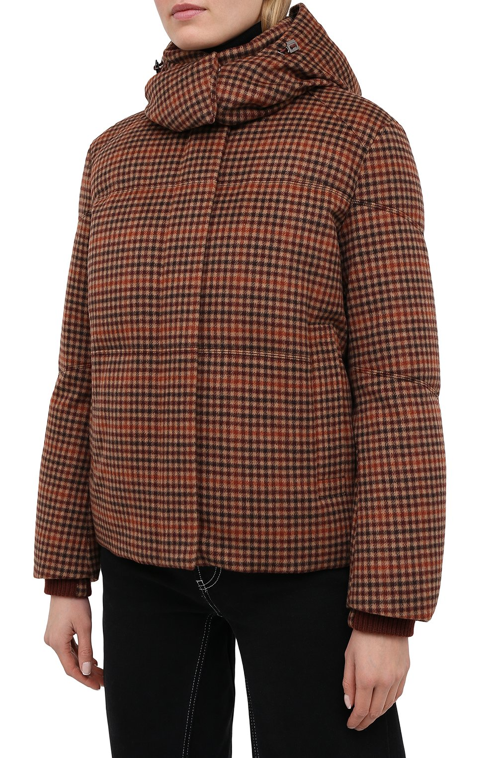 Женский пуховая куртка LORO PIANA бордового цвета, арт. FAL4883 | Фото 3