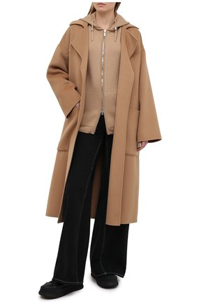 Женский шерстяной кардиган MOORER светло-коричневого цвета, арт. GRECIA-CWH/A20MW01CSWH | Фото 2