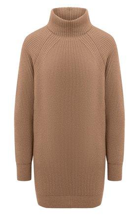 Женский кашемировый свитер MOORER светло-коричневого цвета, арт. DAMES-CWS/A20MW04CA22 | Фото 1