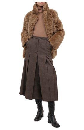 Женский кашемировый свитер MOORER светло-коричневого цвета, арт. DAMES-CWS/A20MW04CA22 | Фото 2
