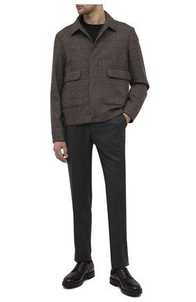Мужской кожаные дерби SANTONI темно-коричневого цвета, арт. MGMI17405JK3ZMMCT50 | Фото 2