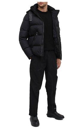Мужские кожаные кроссовки ATTIMONELLI'S черного цвета, арт. AA402 | Фото 2