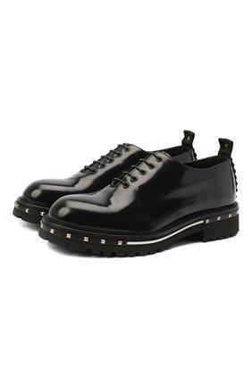Мужские кожаные оксфорды ATTIMONELLI'S черного цвета, арт. AA436/BV1 | Фото 1