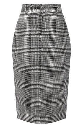 Женская юбка KITON черно-белого цвета, арт. D50209S06304 | Фото 1