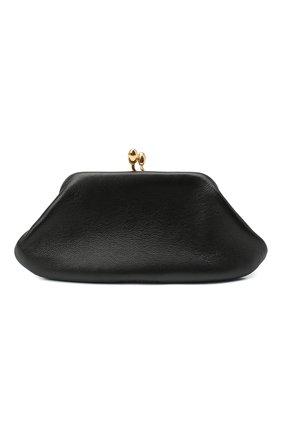Женские кожаный кошелек JIL SANDER черного цвета, арт. JSWR840140-WRS01036 | Фото 1
