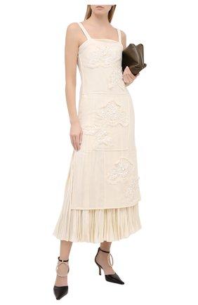 Женское шелковое платье JIL SANDER белого цвета, арт. JSWR506956-WR292900B | Фото 2
