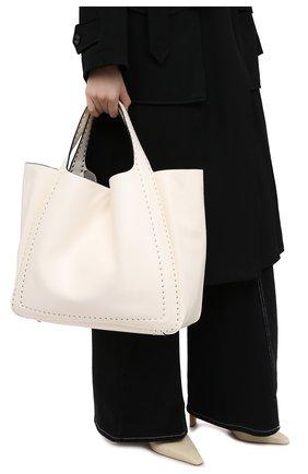 Женский сумка-шопер valentino garavani atelier VALENTINO кремвого цвета, арт. UW0B0H85/GXU | Фото 2