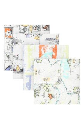 Детского комплект из 4-х пеленок ADEN+ANAIS разноцветного цвета, арт. DISN100G | Фото 1