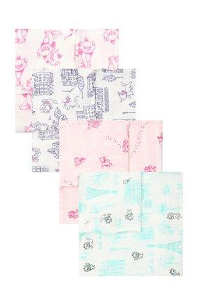 Детского комплект из 4-х пеленок ADEN+ANAIS разноцветного цвета, арт. DISN104G | Фото 1