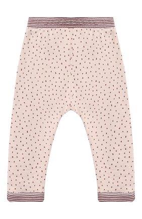 Детские хлопковые брюки SANETTA светло-розового цвета, арт. 10121 | Фото 1