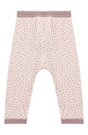 Детские хлопковые брюки SANETTA светло-розового цвета, арт. 10121 | Фото 2