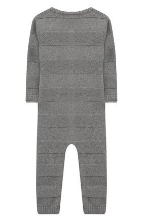 Детский хлопковый комбинезон SANETTA серого цвета, арт. 10192 | Фото 2