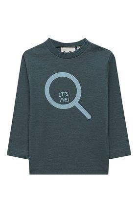 Детский хлопковая пижама SANETTA синего цвета, арт. 12020 | Фото 2