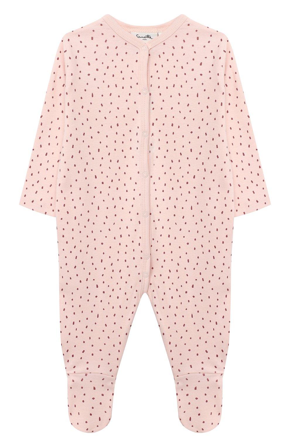 Детский хлопковый комбинезон SANETTA светло-розового цвета, арт. 12015   Фото 1