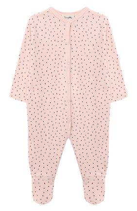 Детский хлопковый комбинезон SANETTA светло-розового цвета, арт. 12015 | Фото 1