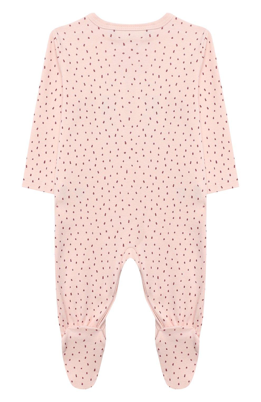 Детский хлопковый комбинезон SANETTA светло-розового цвета, арт. 12015   Фото 2