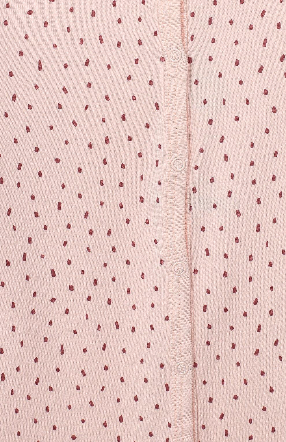 Детский хлопковый комбинезон SANETTA светло-розового цвета, арт. 12015   Фото 3